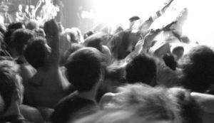 moshing at concert